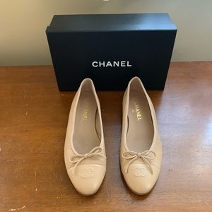 CHANEL Leather Ballet Flats